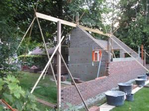Opbouw carport en schuurtje